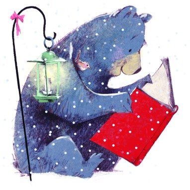 winter_reading_bear_and_wren